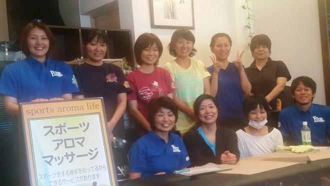 スポーツケアアロマ講習会~下肢編~ 2015/7/26