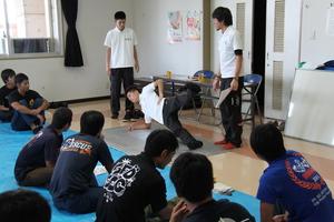トレーニング&アロマケア in 島尻消防署