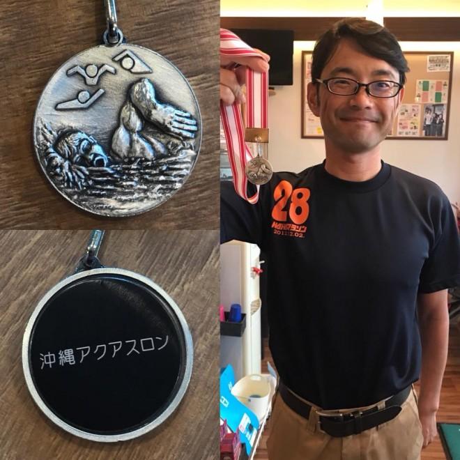 名護アクアスロン大会 年代別銀メダル