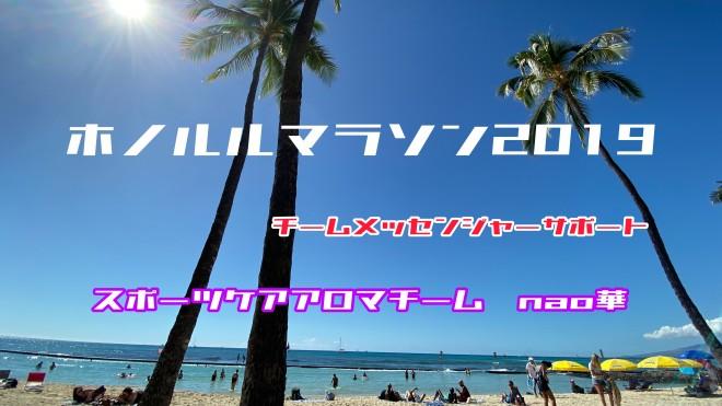 【ホノルルマラソン2019】ケア報告